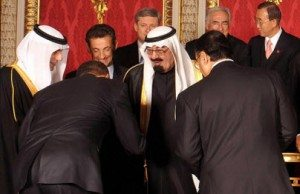 obama bows to saudi king