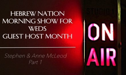 Hebrew Nation Morning Show – Weds 3/5/17  Guest Host Anne & Stephen McLeod