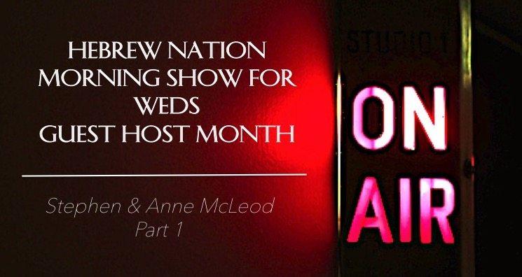 Hebrew Nation Morning Show – Weds 3/5/17  Guest Host Anne & Stephen McLeod