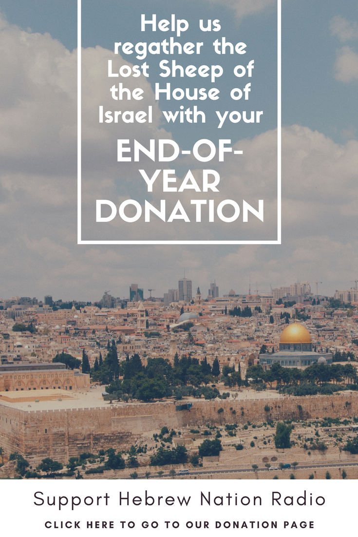 Hebrew Nation Radio End of Year Donation