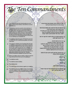 Click to Download 10 Commandments Wall Art